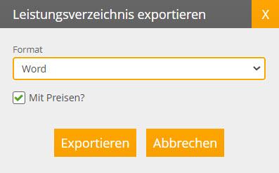 LV exportieren